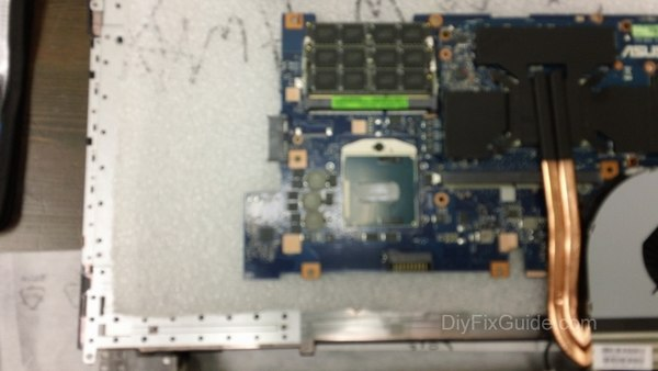 Remove the heat sink