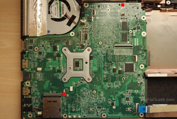 remove motherboard screws