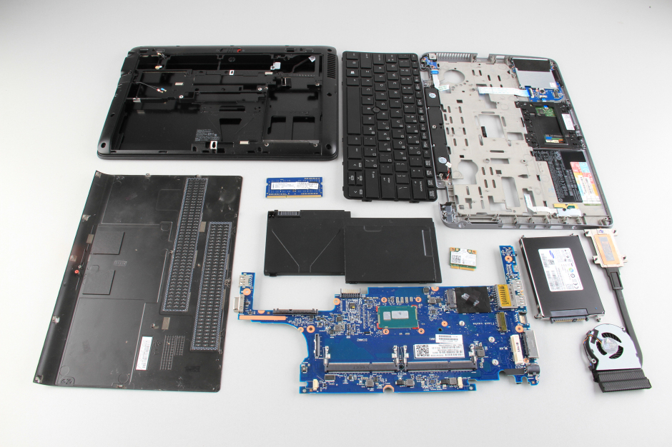 HP EliteBook 820 G1 disassembly and SSD, RAM upgrade options