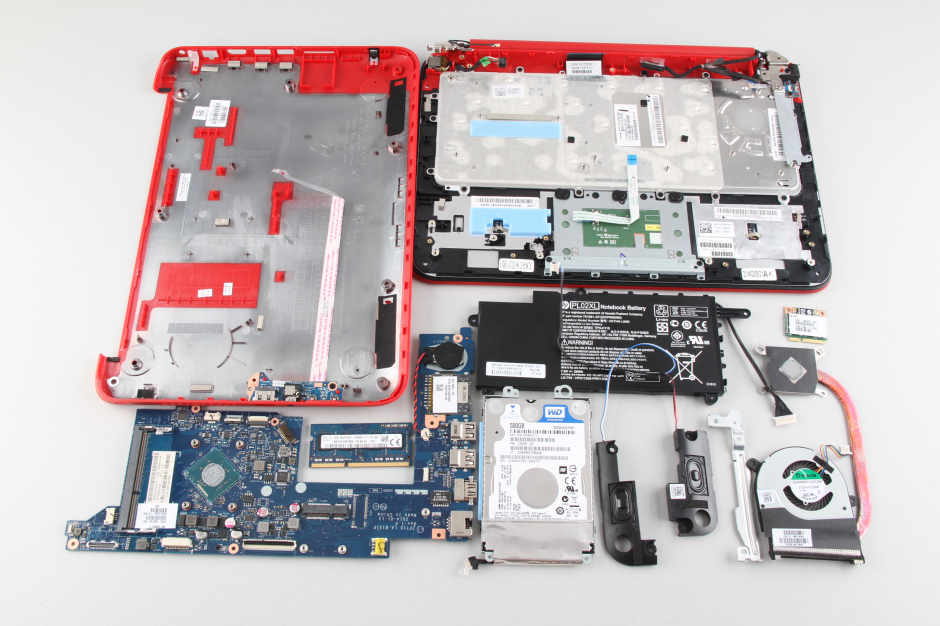 HP Pavilion X360 disassembly and RAM, HDD upgrade options