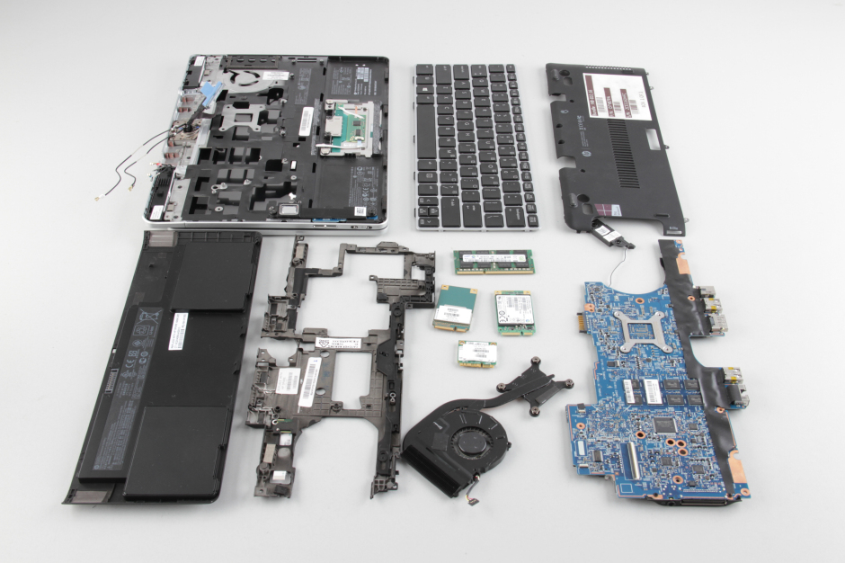 HP EliteBook Revolve 810 G1 disassembly and SSD, RAM upgrade
