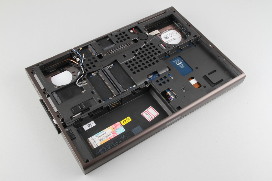Dell Precision M4800 disassembly and RAM, HDD upgrade