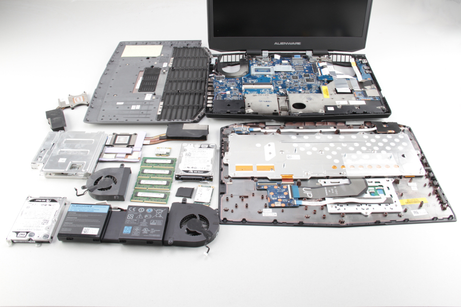 Dell Alienware 17 Disassembly and SSD, RAM, HDD upgrade options