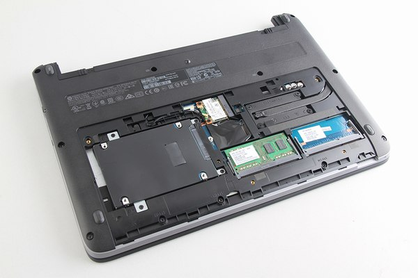 how to remove hard drive from hp touch screen laptop