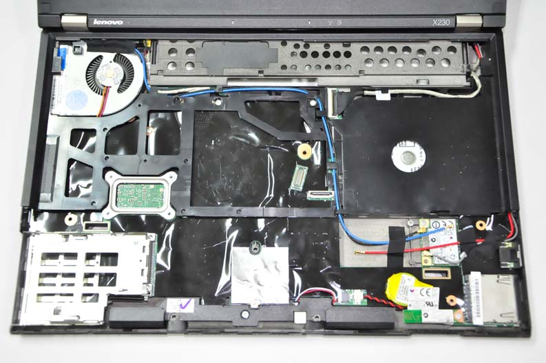 Lenovo ThinkPad X230 Disassembly (Clean Cooling Fan, Remove