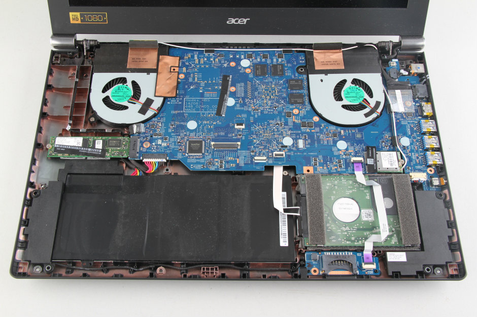 Acer Aspire V Nitro VN7-591G Disassembly and SSD, RAM, HDD