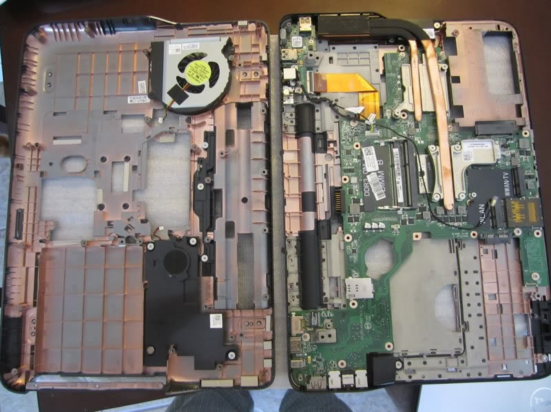 Dell XPS 15 L502X, L501X Disassembly (Clean Cooling Fan, Remove