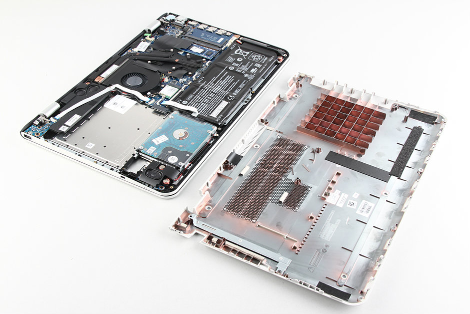 HP Envy 15-ae000 disassembly and SSD, RAM, HDD upgrade