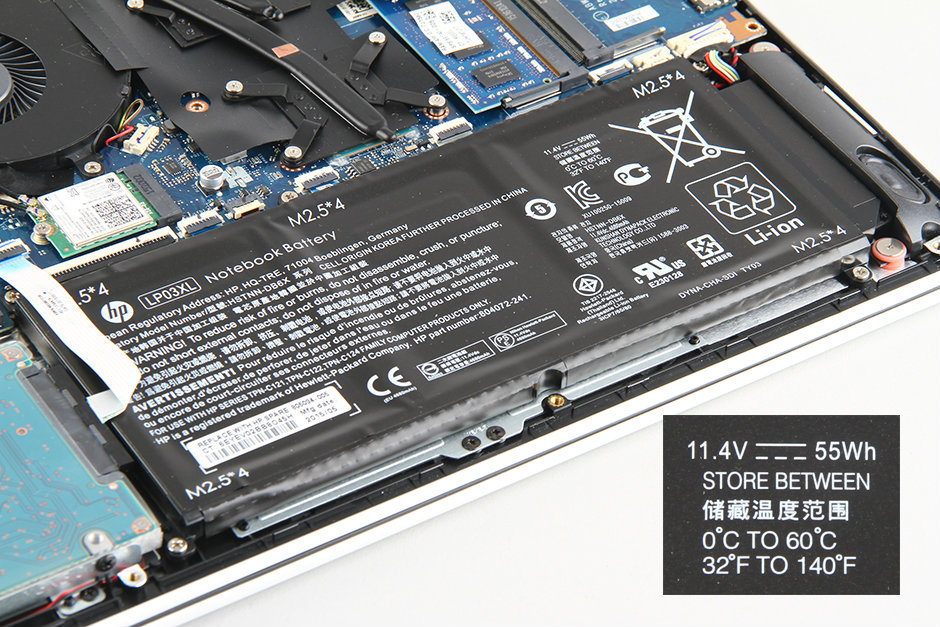 HP Envy 15-ae000 disassembly and SSD, RAM, HDD upgrade options