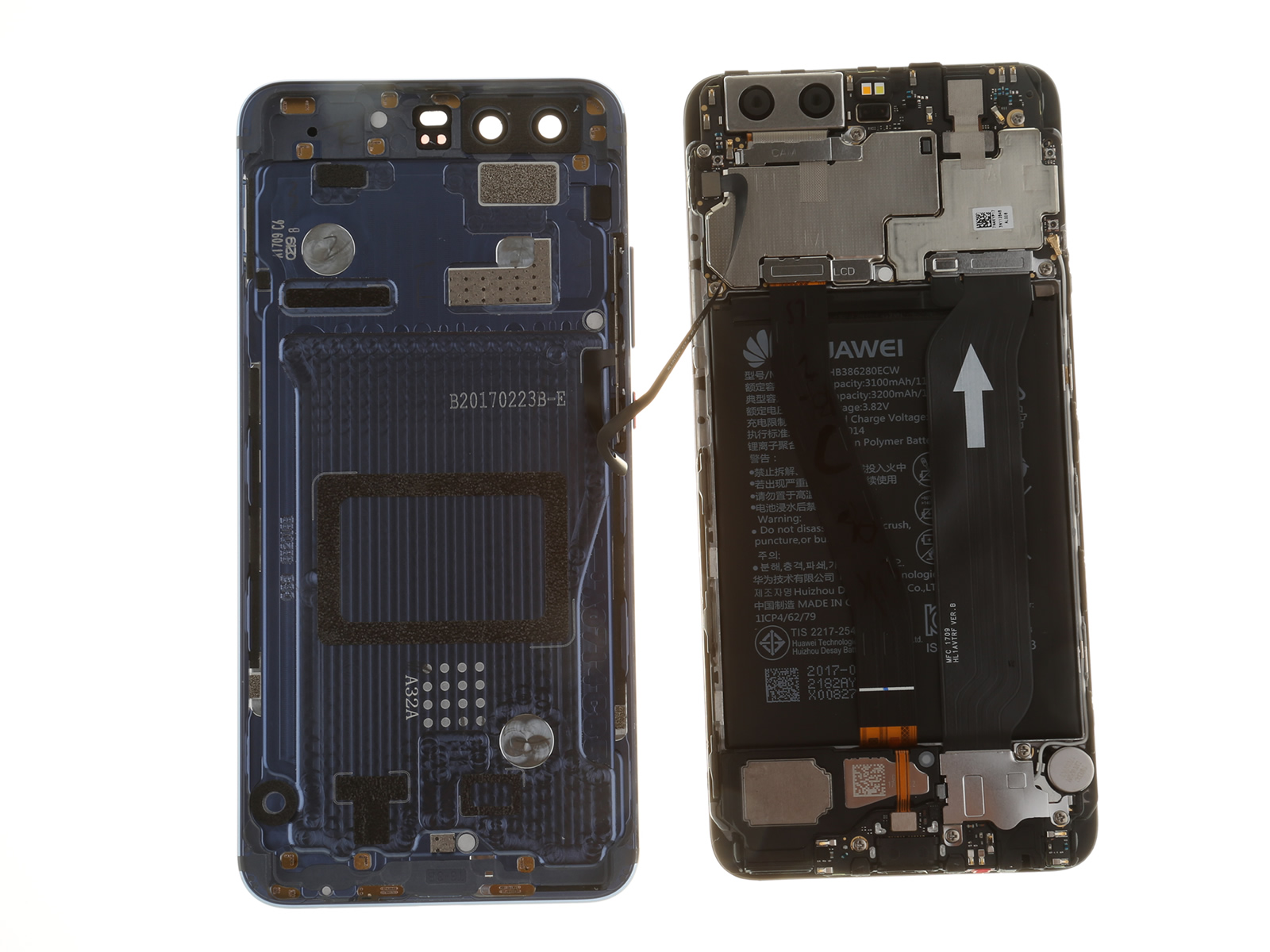 huawei p10 teardown myfixguide com insert cable pinout insert cable connections