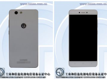 Gionee F100SL front and back