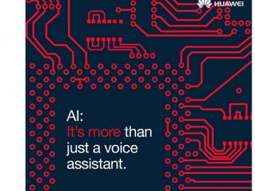 Huawei's fist artificial intellgient posterr