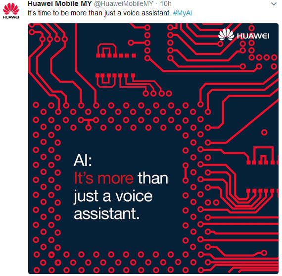 Huawei's fist artificial intelligent poster