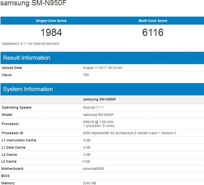 Samsung galaxy note 8 prototype specifications