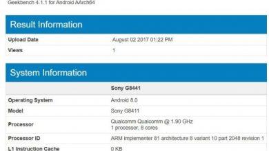 Sony Xperia XZ1 scores