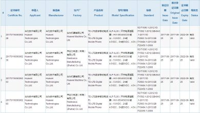Photo of Huawei Mate 10 ALP-AL00 and ALP-TL00 get 3C certificates