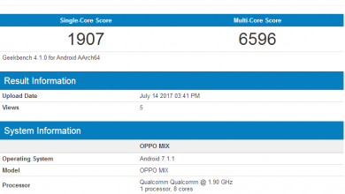 OPPO MIX on Geekbench