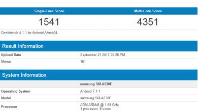 SM-A530F on GeekBench