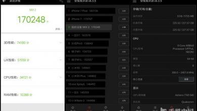 Xiaomi Mi MIX 2 score on Antutu
