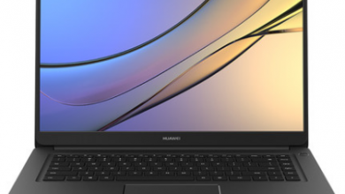 obsidian black Huawei MateBook B front