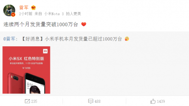Xiaomi shipment quantity