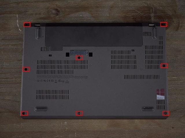 Lenovo ThinkPad X270 bottom