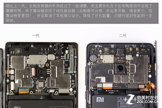 Xiaomi Mi MIX 2 motherboard connector layout