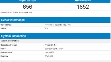 Samsung Galaxy J2 Pro 2018 on GeekBench