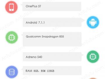 OnePlus 5T on Antutu