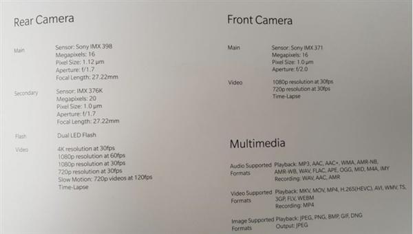 OnePlus 5T spec2