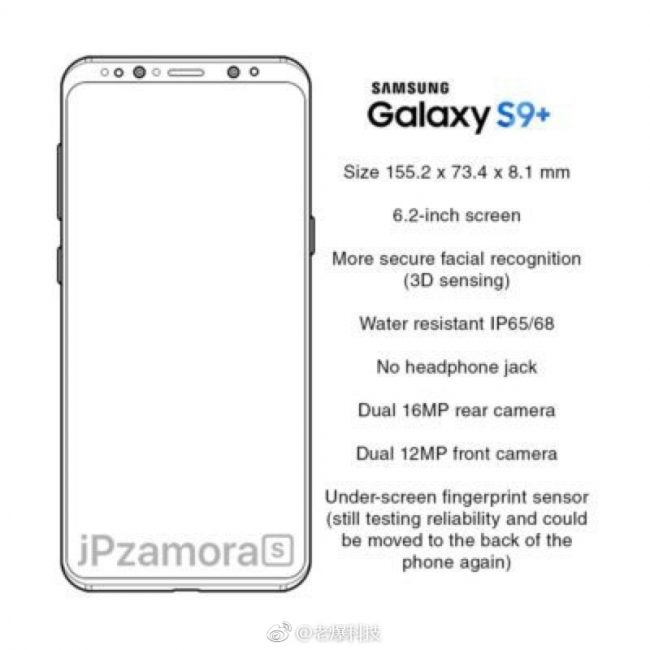 Samsung Galaxy S9+ specification
