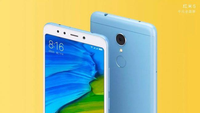 Xiaomi Redmi 5 blue