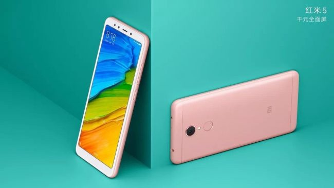 Xiaomi Redmi 5 rose gold