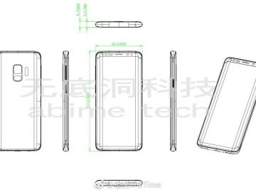 Samsung Galaxy S9 design drawing