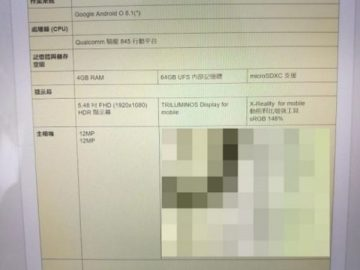 Sony Xperia H8216 specification
