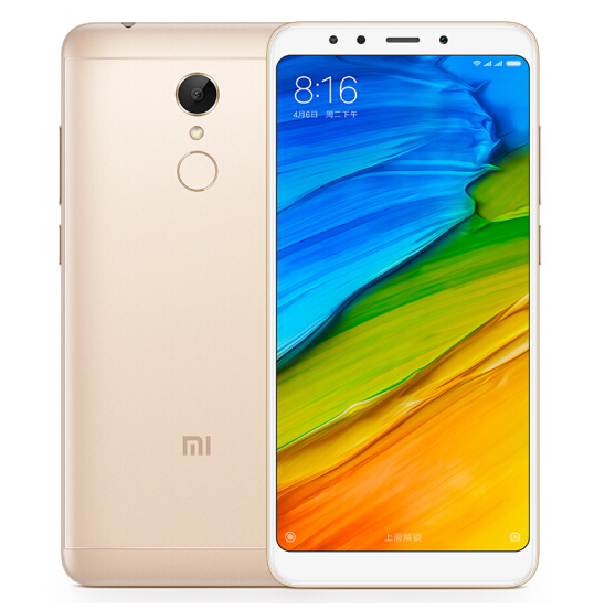 Xiaomi Redmi 5 front and back