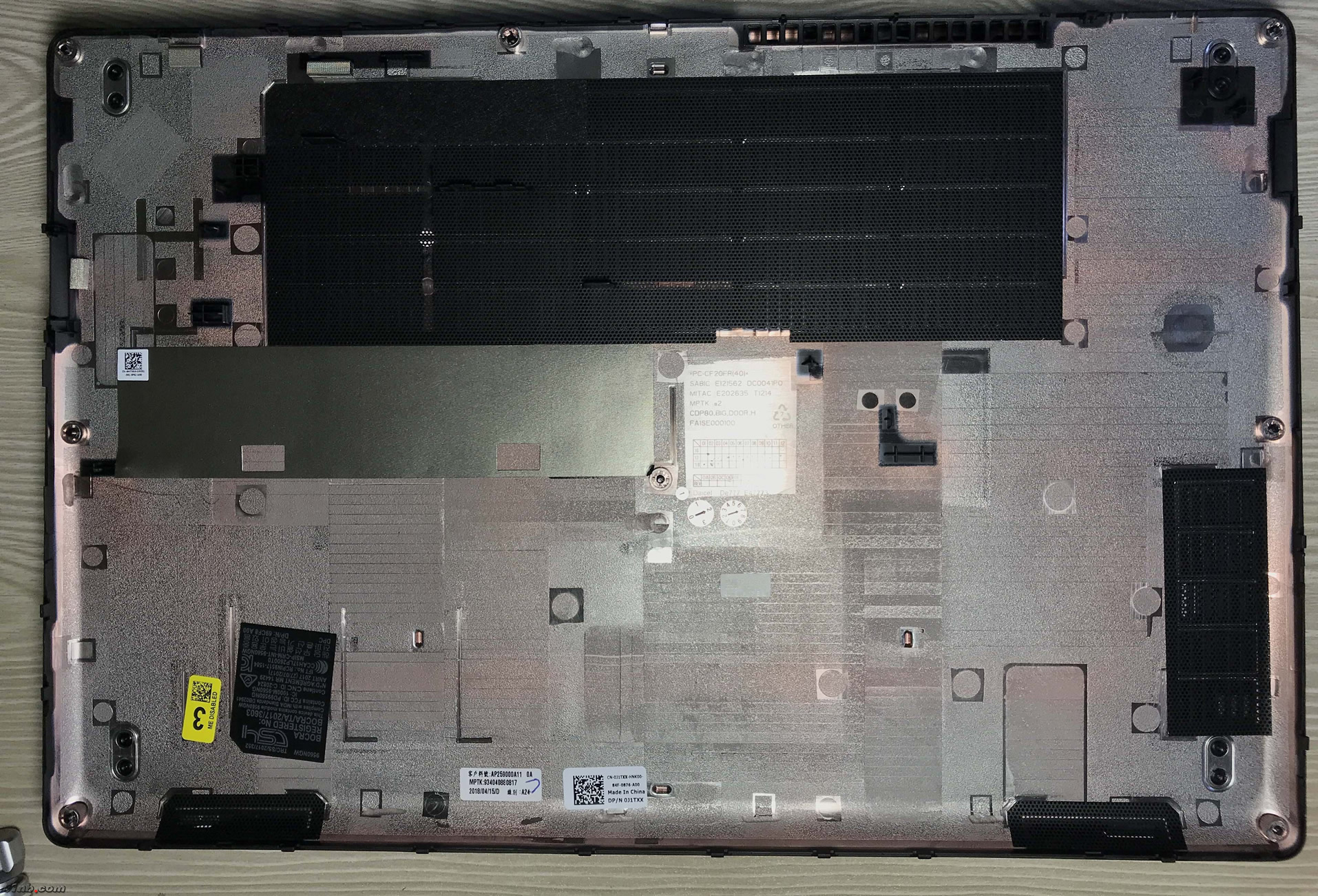 Dell Precision 3530 Disassembly (RAM, SSD, HDD upgrade options