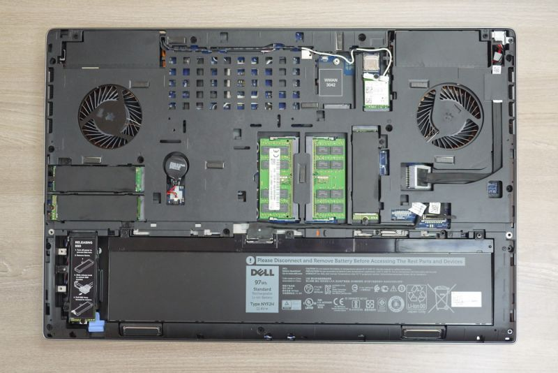 Dell Precision 7730 Disassembly (RAM, SSD, HDD upgrade options