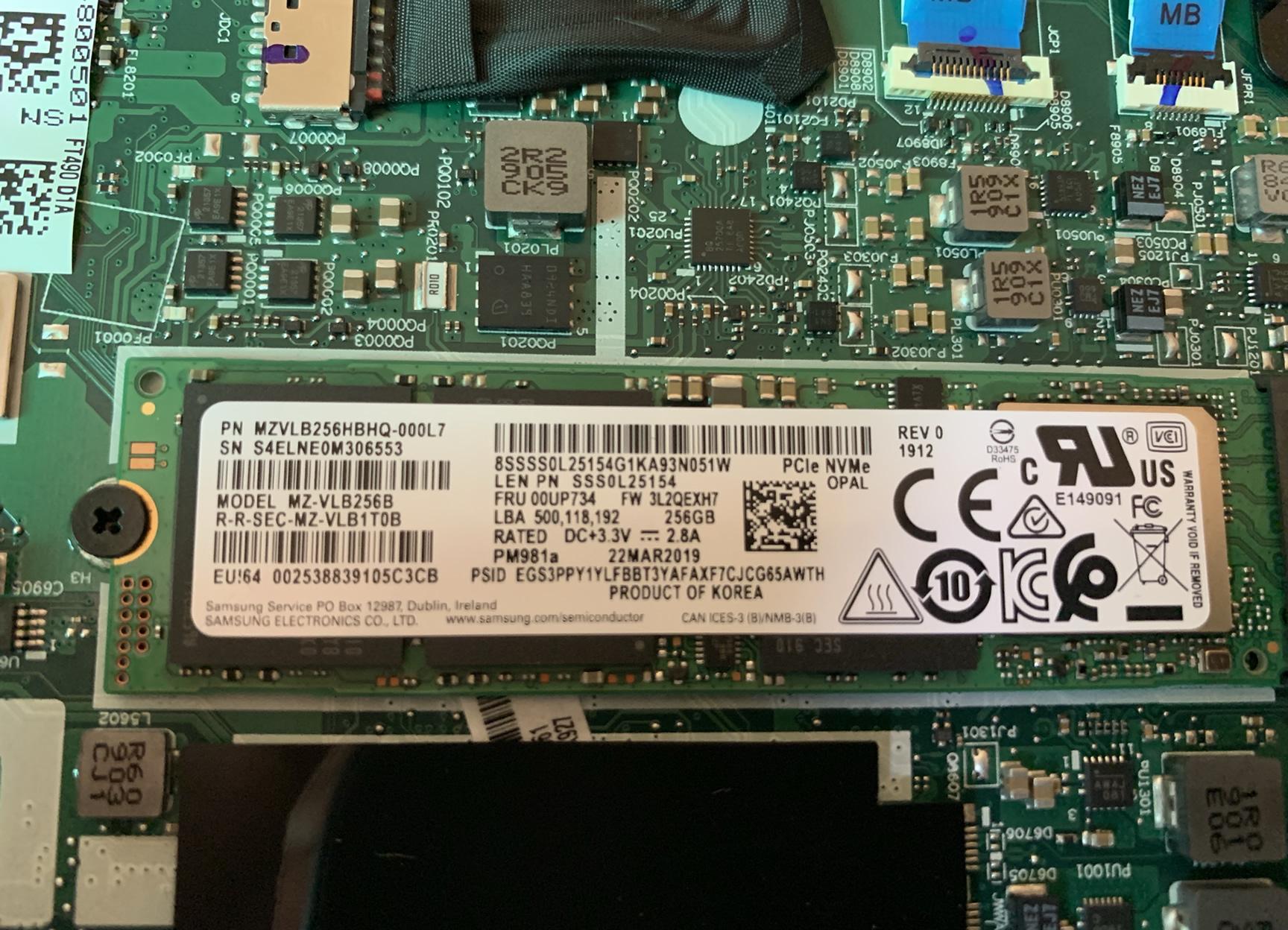 Lenovo ThinkPad T490 Disassembly (RAM, M 2 SSD upgrade