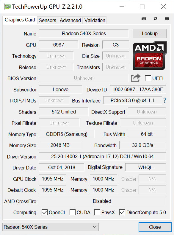 GPU specification