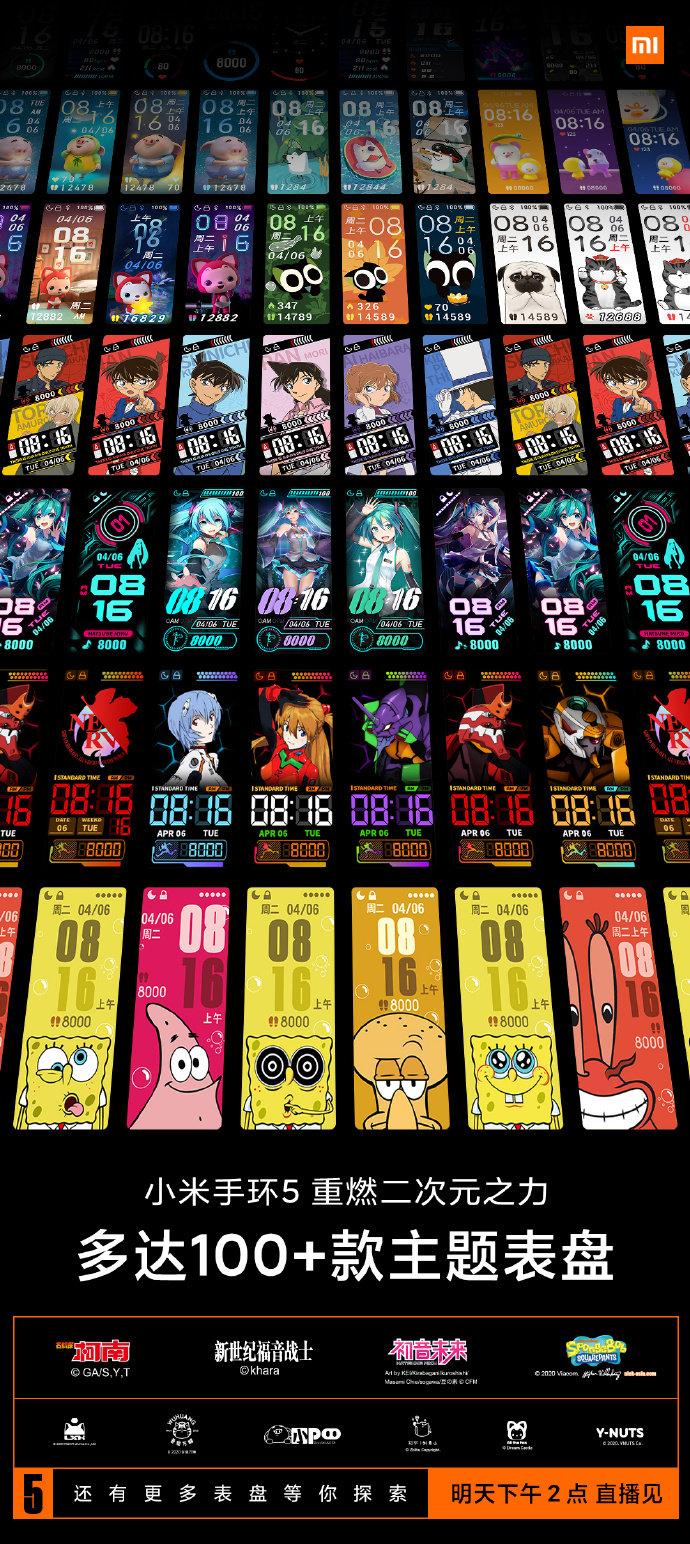Xiaomi Mi Band 5 Themes