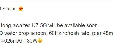Photo of Oppo K7 5G Expected To Launch Soon With SD765G And 6.4-inch Screen