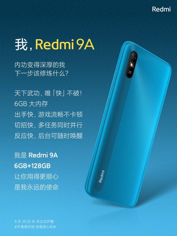 Redmi 9A 6+128GB Model