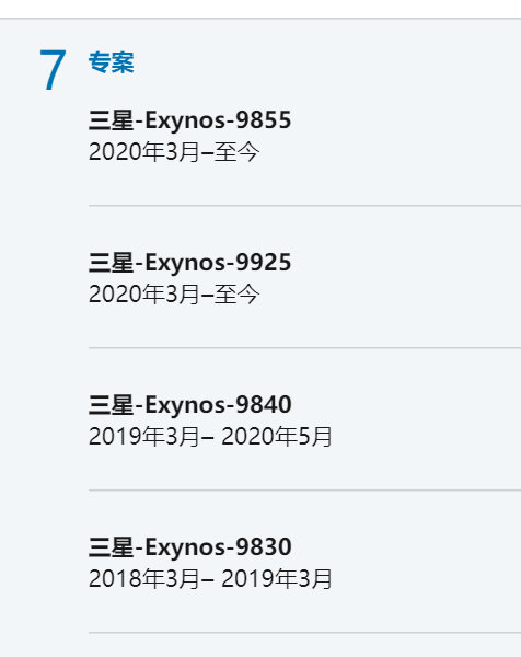 Exynos Chipsets