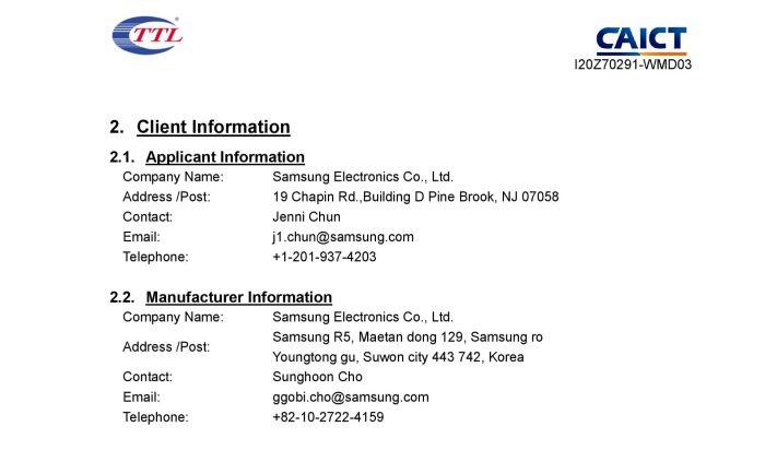 FCC Certification Applicant