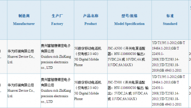 Huawei Nova8 Series 3C Certification