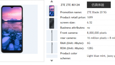 Photo of ZTE Blade 20 5G Spotted On China Telecom's Website: Chipset And Price Confirmed