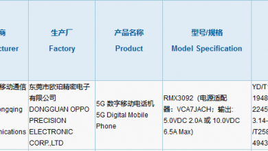 Photo of Realme RMX3092 Got 3C Certification With 65W Fast Charging