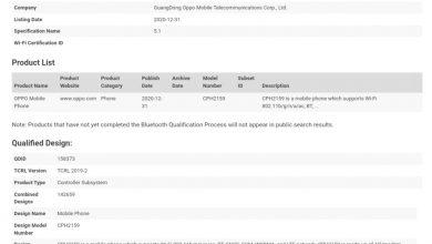 Reno5 4G Edition Bluetooth Certification