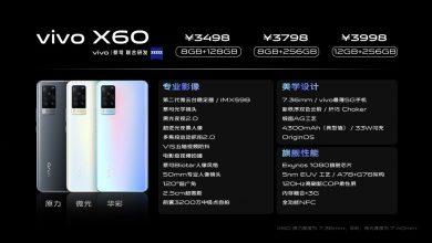 Vivo X60 Standard Version Specs